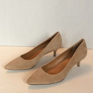 New J Crew Suede Kitten Heel Pumps